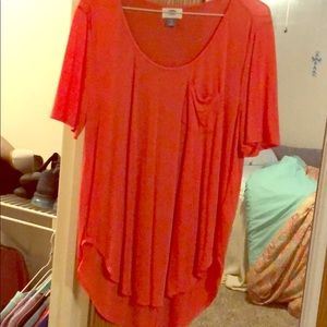 Coral colored top